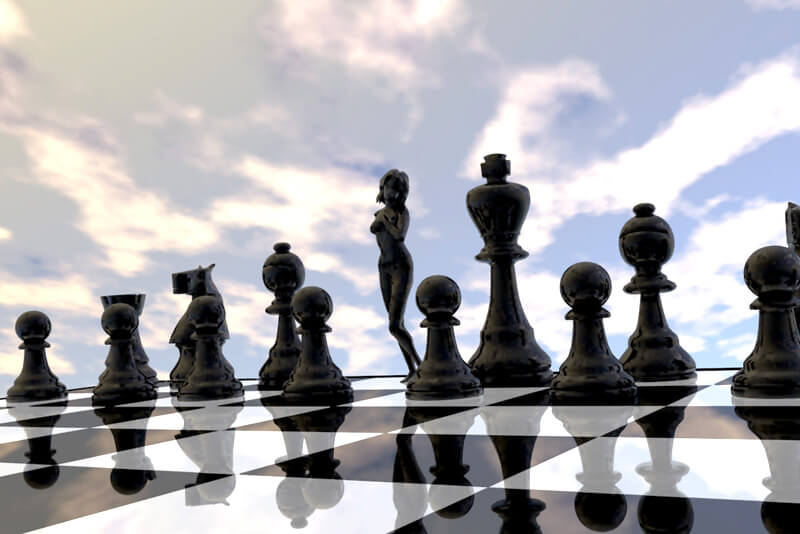The New Queen - Wondering what chess pieces could look like if the pieces were more realistic, created using Bryce and Poser