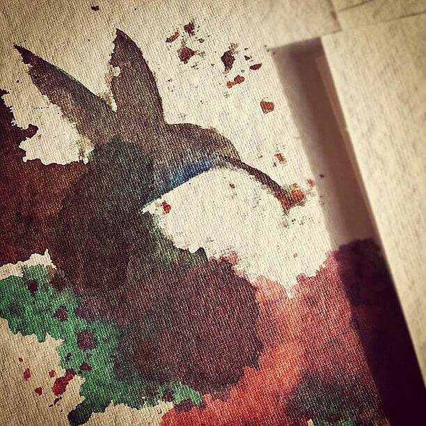 Ink Spring Hummingbird