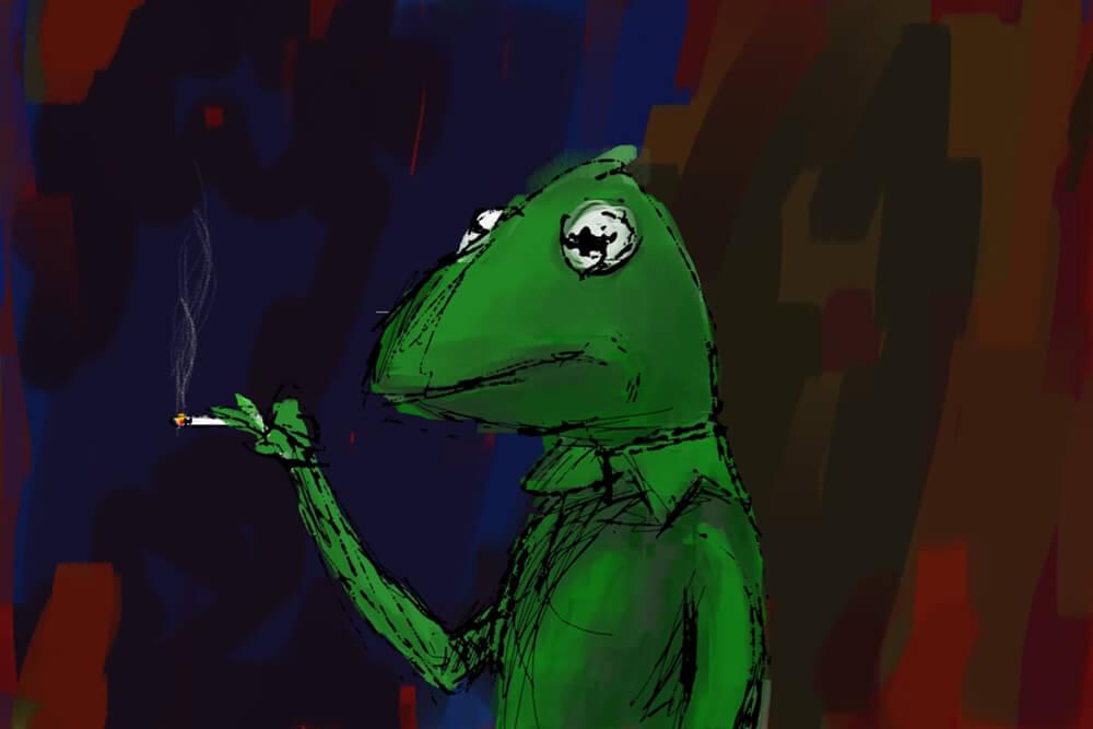 Kermit Smoking